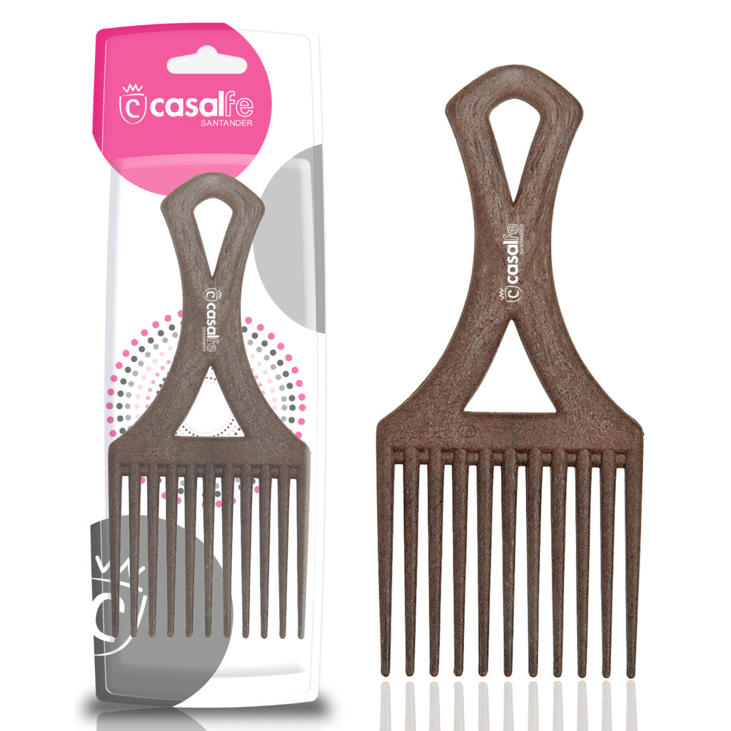 WOODEN COLOUR AFRO COMB